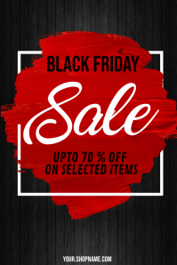 black friday, black friday sale Poster template