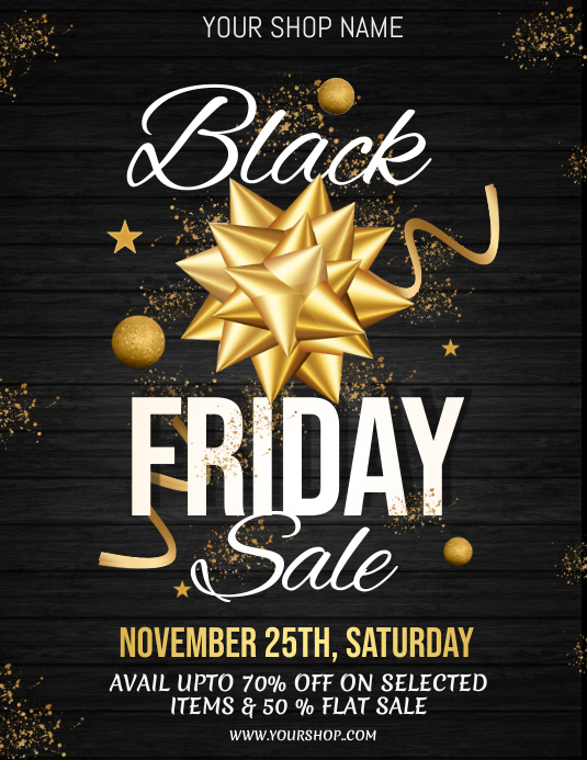 black friday, black friday sale Pamflet (VSA Brief) template