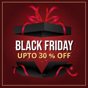 black friday, black friday sale โพสต์บน Instagram template