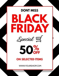 Black Friday, Black Friday Video Løbeseddel (US Letter) template