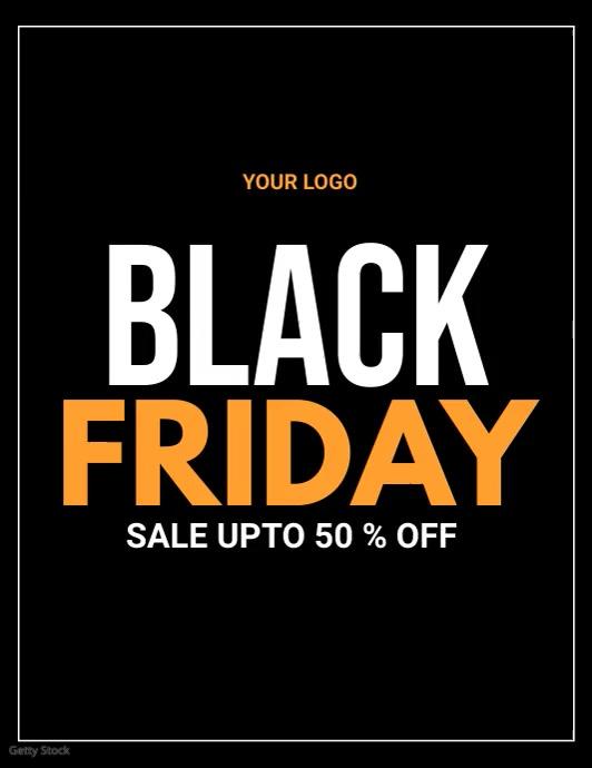 black friday, black friday video Flyer (US Letter) template