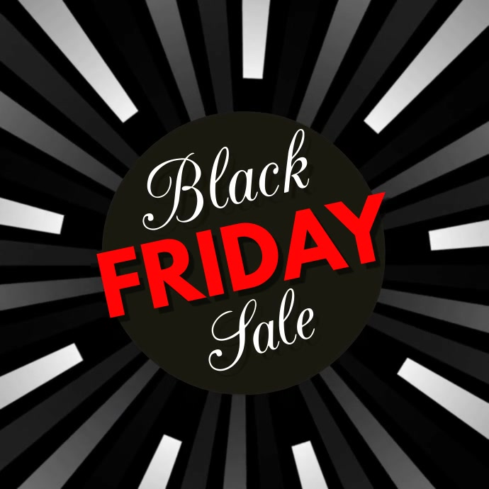 black friday, black friday video Persegi (1:1) template