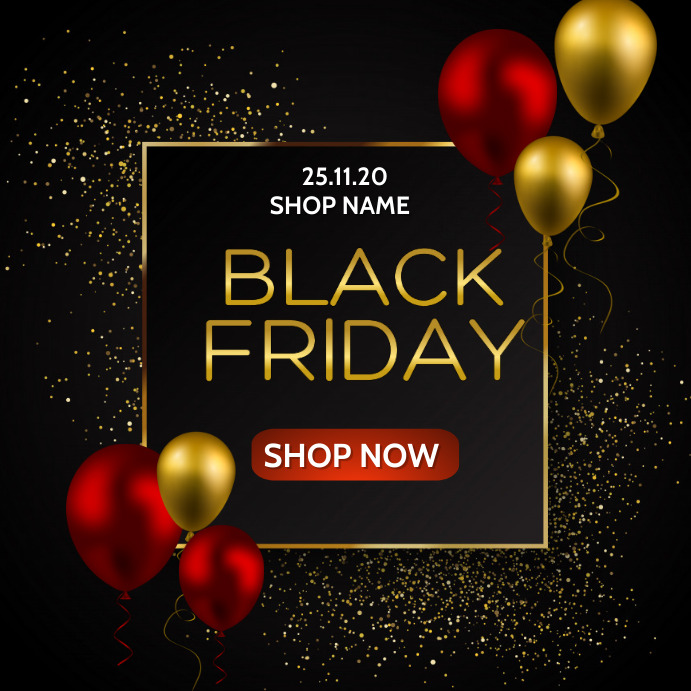 Black Friday, Opening soon 方形(1:1) template