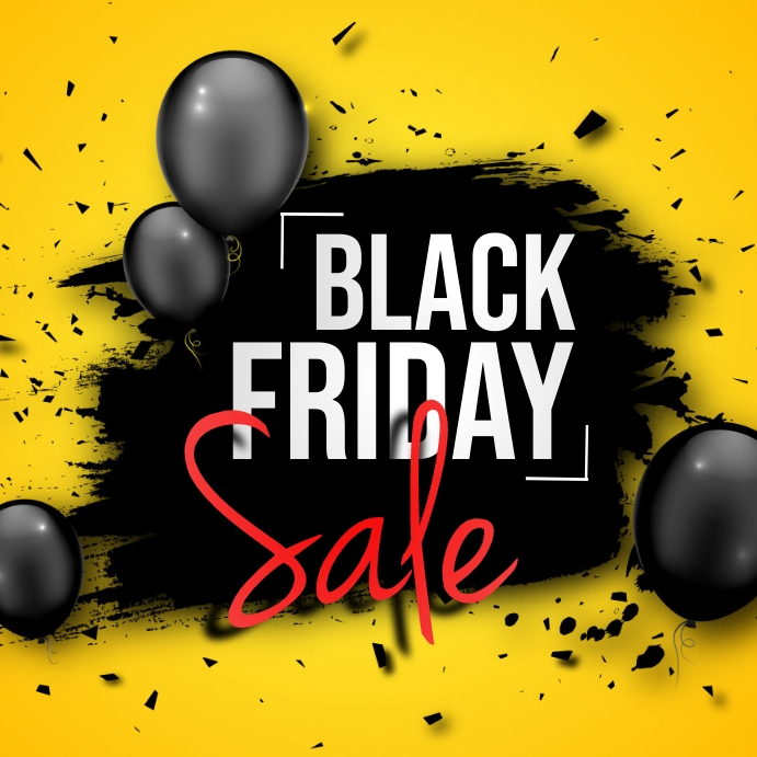 Black Friday, Retail, Summer sale Persegi (1:1) template