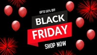 Black friday,party Blog overskrift template