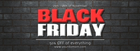 Black Friday % Off Sale Header Banner Promo Ikhava Yesithombe se-Facebook template