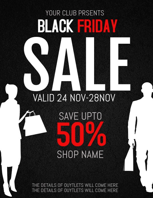 black friday ,event flyers,retail