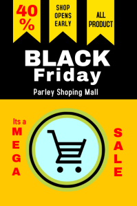 Black friday 2 Poster template