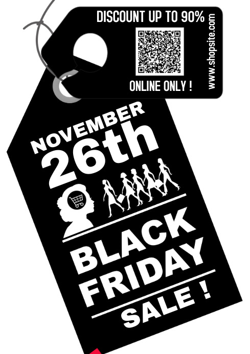 Black Friday 2021 A4 template