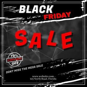 Black Friday 70% Sale Template Instagram Post