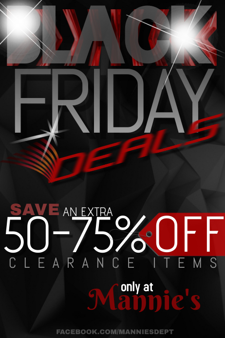 BLACK FRIDAY Ad Poster Sale Shop Retail Business Discount