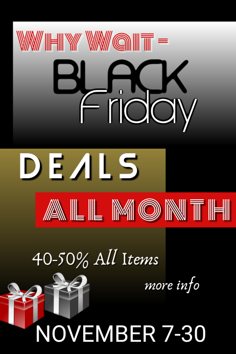 Black Friday All Month Template Postermywall