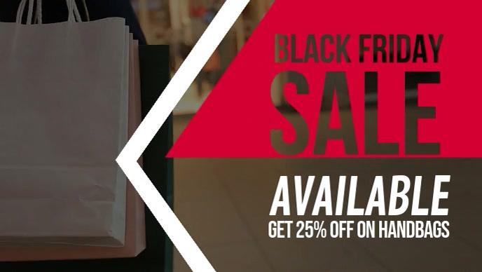 Black Friday Apparel Sale Facebook Cover Video