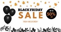 black friday banner for website Facebook Shared Image template