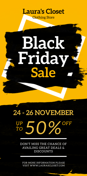 Black Friday Big Sale Roll-up Banner Roll-up-Banner 3 x 6 Zoll template