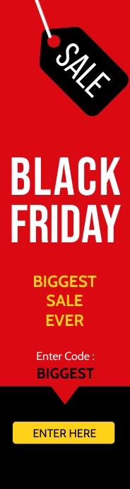Black Friday Biggest Sale Banner Wide Skyscraper template