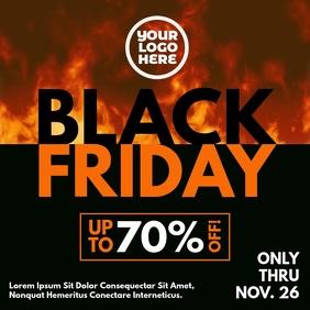 Black Friday Burning Fire