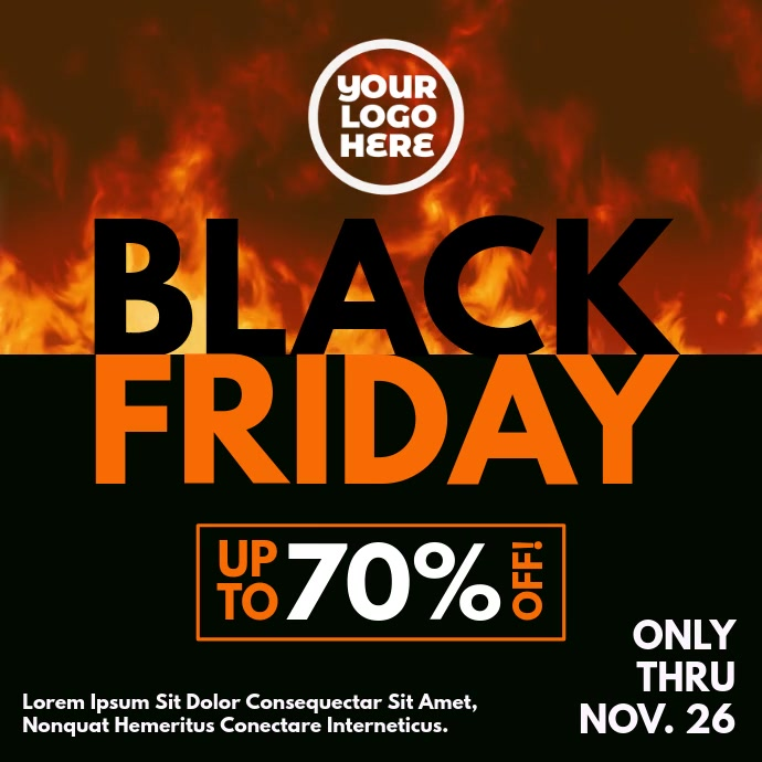 Black Friday Burning Fire