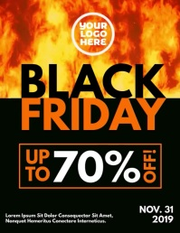 Black Friday Burning Fire Flyer template