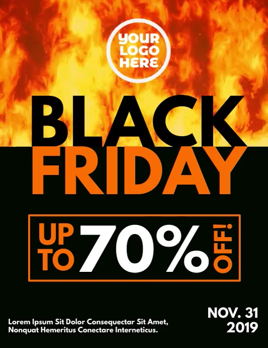 Black Friday Burning Fire Flyer