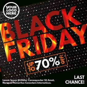 Black Friday Burning Fire Letters Instagram Post template