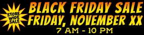 Black Friday Business Outside Banner 2x8 Feet template