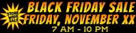 Black Friday Business Outside Banner 2x8 Feet 横幅 2' × 8' template