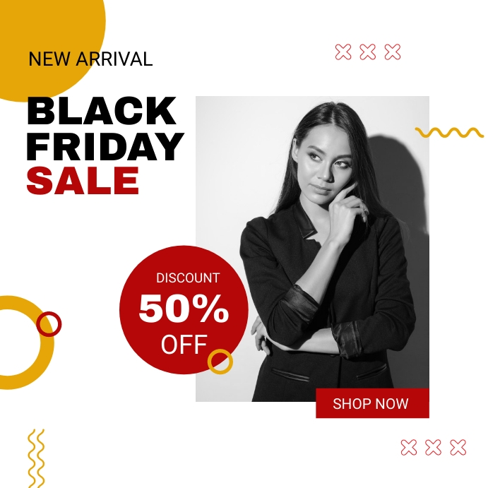 black friday campaign instagram post template