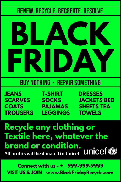 Black Friday Clothes Recycle Poster Template