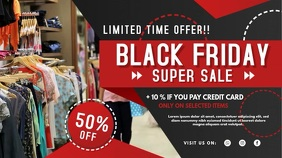 Black Friday Clothes Sale Digital Signage Digitale Vertoning (16:9) template