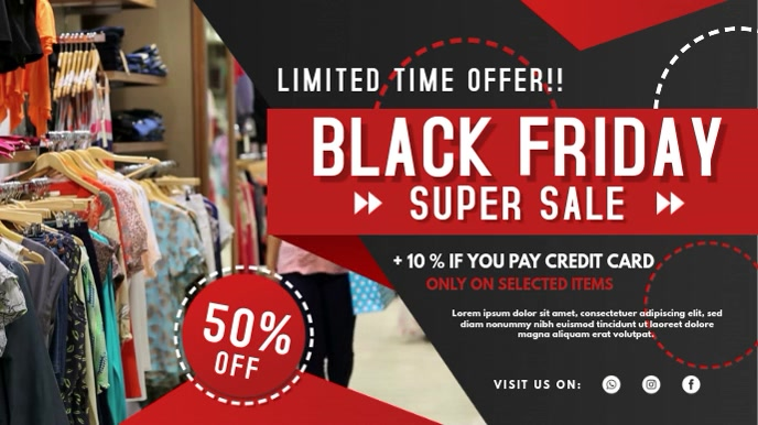 Black Friday Clothes Sale Digital Signage