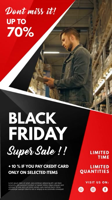 Black Friday Clothing Shopping Ad Banner