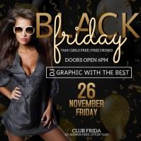 BLACK FRIDAY CLUB NIGHT PARTY Flyer template Logo
