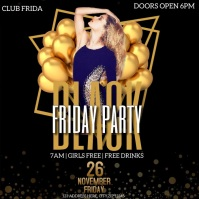 BLACK FRIDAY CLUB NIGHT PARTY Flyer template Logotipo