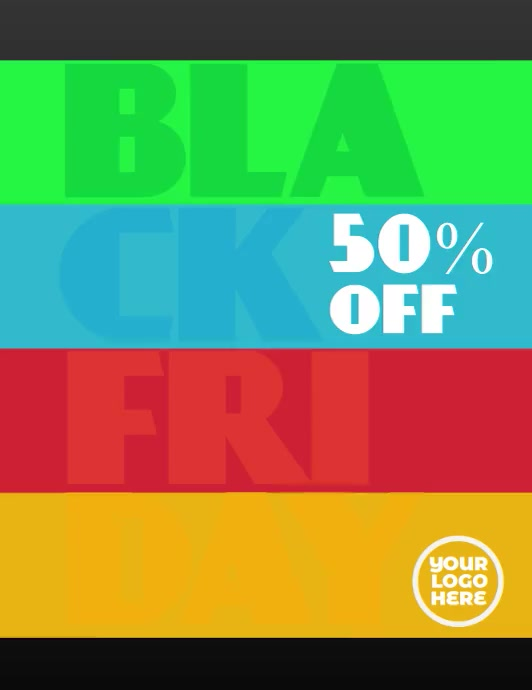 Black Friday Colorful Animated Flyer Clean Pamflet (VSA Brief) template