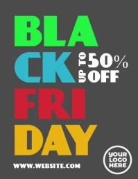 Black Friday Colorful Animated Flyer Volantino (US Letter) template