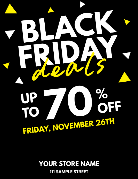 Black Friday Deals Black Yellow Flyer