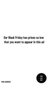 BLACK FRIDAY Instagram-verhaal template