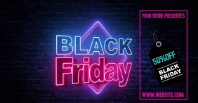 BLACK FRIDAY Facebook Gedeelde Prent template