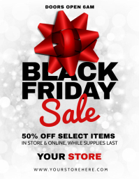 black friday Flyer (US Letter) template