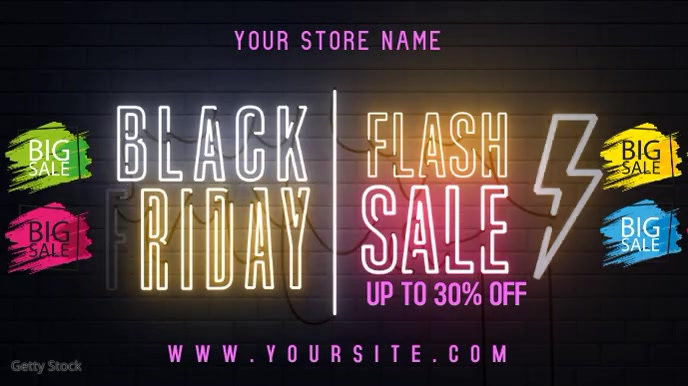 BLACK FRIDAY Digitalt display (16:9) template