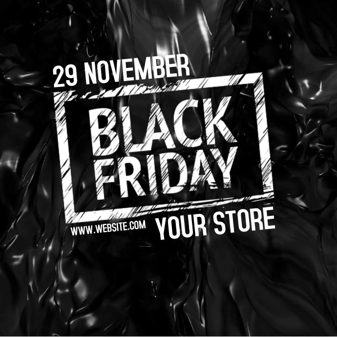 BLACK FRIDAY DIGITAL VIDEO AD TEMPLATE Square (1:1)