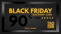 Black Friday Discount Card Template Wizytówka
