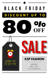 Black Friday Discount Sale Poster Plakat template