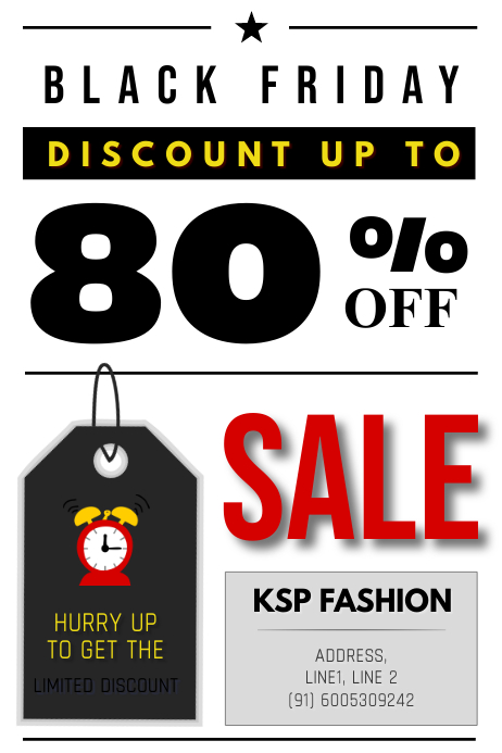 Black Friday Discount Sale Poster template
