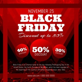 Black Friday Discount Square Video