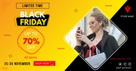 black friday discount template Facebook Shared Image