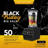 Black Friday Discount Video Template Wpis na Instagrama