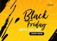 Black Friday Discounts social media Post Carte postale template