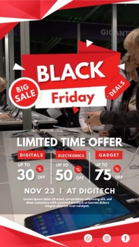 Black Friday Electronics Sale Digital Banner template